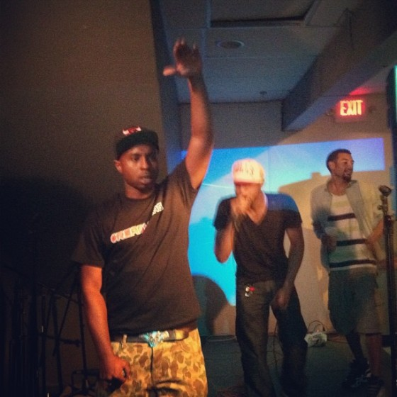 Skeen controlling the crowd during his performance at Spaceboy.