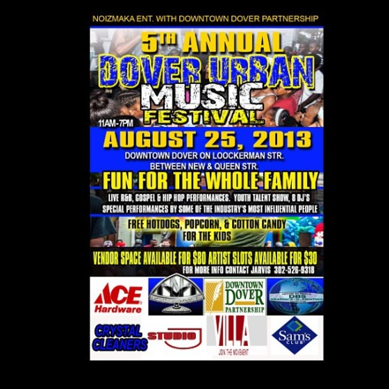 Dover Urban Music Festival Flyer